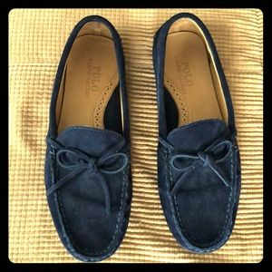 Ralph Lauren Suede Driving Loafers in navy